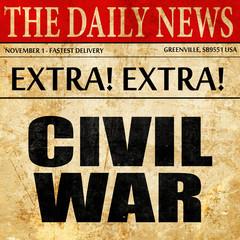 civil war, newspaper article text