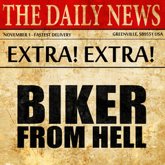 biker from hell, newspaper article text