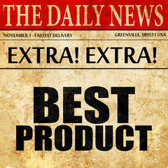 best product, newspaper article text