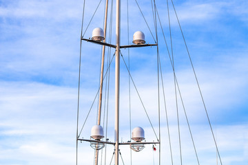 Radar shaft of a sailing boat