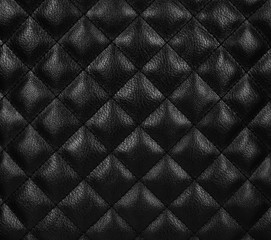 Diamond leather background. Close up.