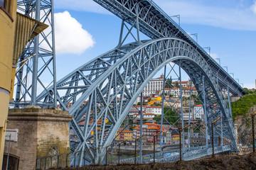 PORTO, PORTUGAL, JUNE 17, 2016 -  Dom Luis I Bridge in old port of Porto, Portugal., Europe