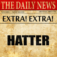 hatter, newspaper article text