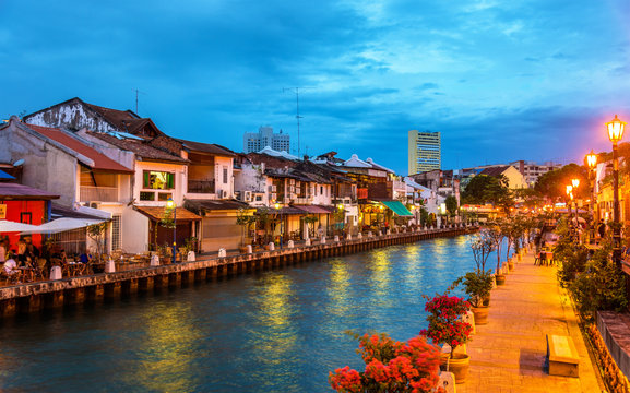 The old town of Malacca, a UNESCO World Heritage Site in Malaysia