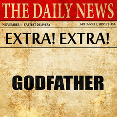 godfather, newspaper article text