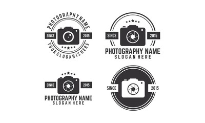 Set of photography, camera vintage logo