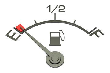 Fuel gauge, 3D rendering