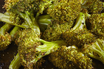 oven roasted florets of broccoli