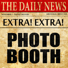 photo booth, newspaper article text
