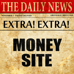 money site, newspaper article text