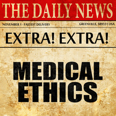 medical ethics, newspaper article text