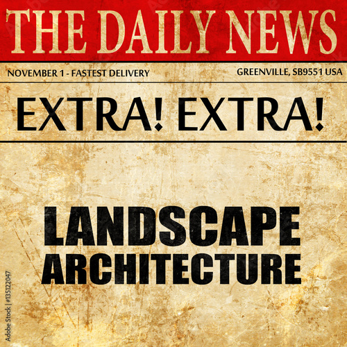 u0026quot;landscape architecture newspaper article textu0026quot; Stock photo and royalty-free images on Fotolia ...