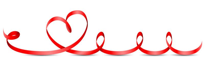 Herz Schleifenband rot