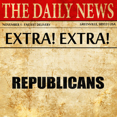 republicans, newspaper article text