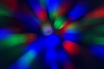 Bokeh color light.Light of night red blue green bokeh background