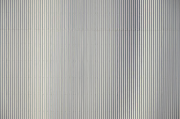 White corrugated metal texture surface
