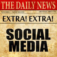 social media, newspaper article text