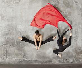 Young couple ballet dancing