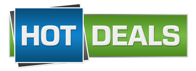 Hot Deals Green Blue Horizontal