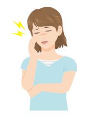 女性の表情 頭痛 体調不良