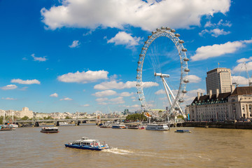 London eye, large Ferris wheel, London