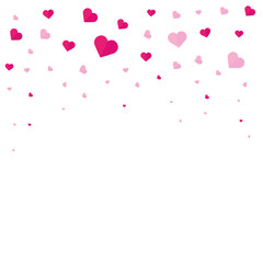 Happy Valentines Day. Background with hearts. Vector flat illustration.
