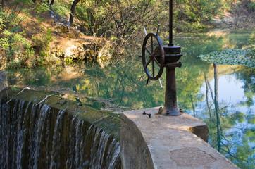 Dam in 7 Springs, Rhodes, Greece