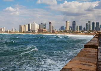 View to the Tel-Aviv.