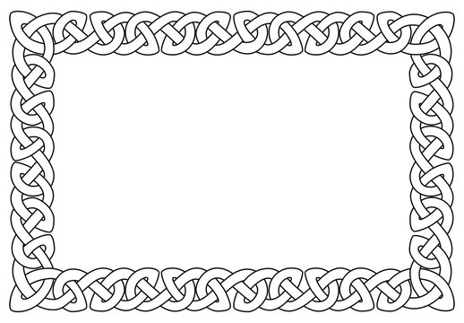 rechteckiger keltischer Rahmen