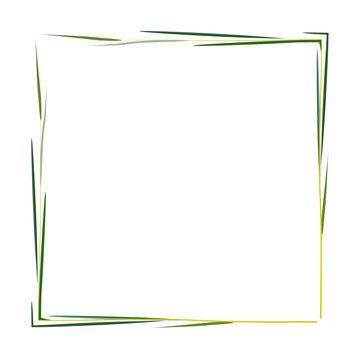 рамка из веток ивы на белом фоне, векторная иллюстрация