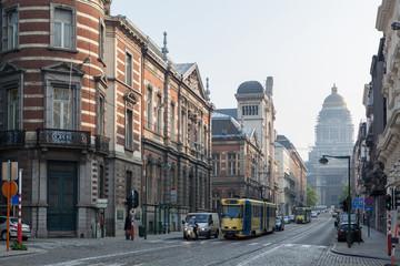 Keuken foto achterwand Brussel Traffic in the Brussel streets