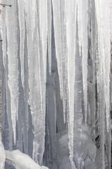 天然氷の模様  Design of the natural ice