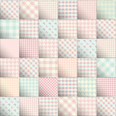 Pink sweet patchwork