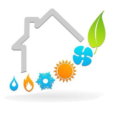 logo  plombier climatisation chauffage