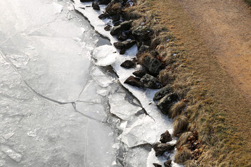 Ufer mit Eis