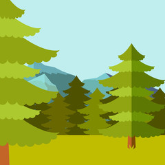 Deep Forest flat background4