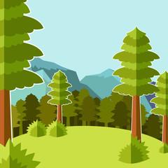 Deep Forest flat background8
