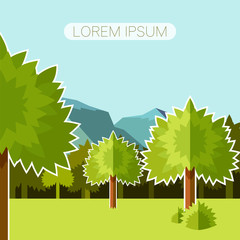Deep Forest flat background12