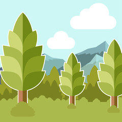 Deep Forest flat background27