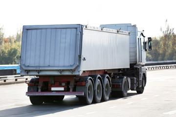 Back of American cargo truck