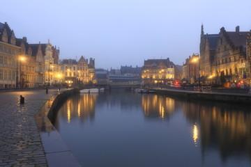 Gent rainy evening, Belgium