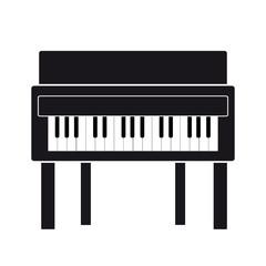 Piano on white background