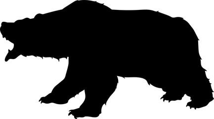 Huge bear vector silhouette