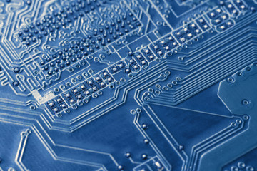 Electronic circuit board close up. Background can use the Internet and design