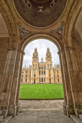 All Souls College in Oxford - entry view