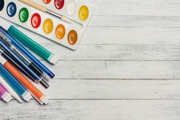 paint, pencil, pen, free place