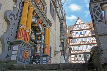 Hannoversch Münden: Portal des Rathauses (1603, Niedersachsen)