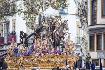 Paso de misterio de la hermandad de la esperanza de Triana, semana santa en Sevilla
