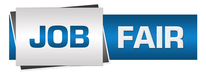 Job Fair Blue Grey Horizontal