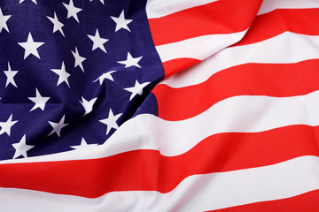 United State of America Flag Fabric Background